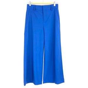 Vince High Rise Cropped Wide Leg Pants Blue NEW 2
